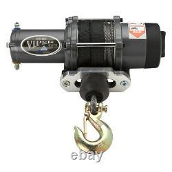 Viper Vtt/utv Winch Elite 5000 Lb Avec 40 Pieds De Corde Synthétique