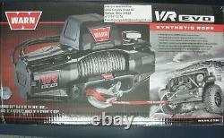Warn 103255 Vr Evo 12s 12000lb Winch 12v Hawse Fairlead 90' 3/8 Corde Synthétique