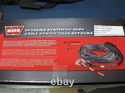 Warn 88468 Kit Corde Synthétique 3/8 X 80' Winch 10000 Lb Crochet Spydura Polyéthylène