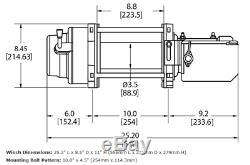 Warn 97730 M15-s 15000 Lb Treuil 80' 3/8 Spydra Synthétique Corde Série Lourde