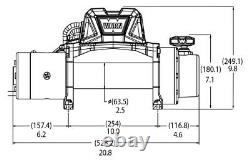 Warn Vr Evo 10-s 10k Lb Treuil Électrique Auto-récupéré Avec 90 Pieds De Corde Synthétique
