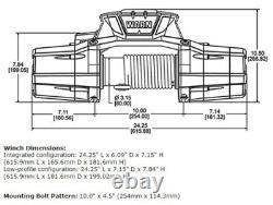 Warn Zeon 12-s Noir 12k Lb Évalué 80'x3/8 Synthétique Spydura Pro Rope Winch