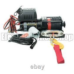 Warrior Ninja 2000lb 24v Electric Winch, Synthetic Rope, Vtt, Utilitaire, Bateau, Nouveau