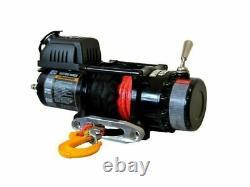 Warrior Ninja 4500lb 12v Treuil Électrique Remorque Utilitaire À Corde Synthétique Nouveau