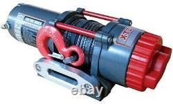 Warrrior C3500xt Treuil 12 Volts Avec Corde Synthétique Et Plomb D'aluminium Fairlead