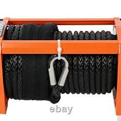 Winch De Récupération Électrique 12v 13500lb 6123kg Synthetic Rope Heavy Durty