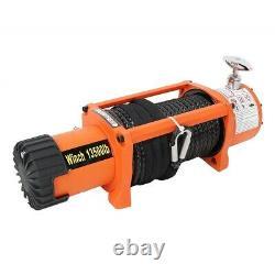 Winch Électrique 13500lb 12v Corde Synthétique 4x4 / Récupération Sans Fil Winch