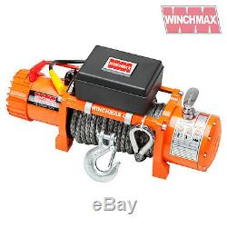 Winch Electrique 13500lb 12v Synthetique Corde Winchmax 4x4 / Reprise Sans Fil Dyneema