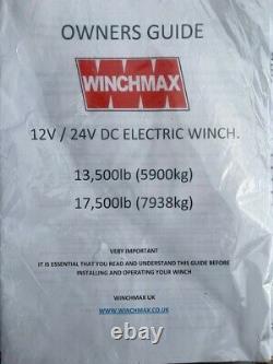 Winchmax 13 500 Treuil De Remorque Électrique Avec Corde Synthétique + Couvercle Étanche