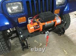 X-bull 12v Corde Synthétique Étanche Winch-13000 Lb Capacité De Charge Ip67 Orange
