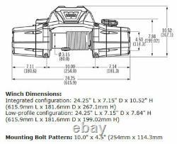 Zeon 10-s 10000 Warn Electric Winch Hawse Fairlead 100' 3/8 Corde Synthétique 89611