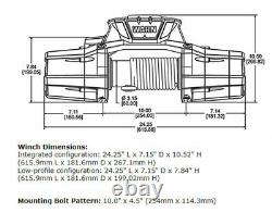 Zeon 10-s Platinum 10000 Warn Winch Hawse Fairlead 100' 3/8 Corde Synthétique 92815